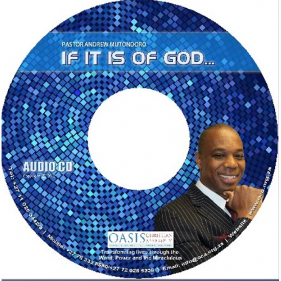 If it is of God (audio)