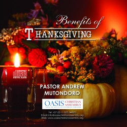 Benefits of Thanksgiving (Audio)